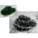 Catena per albero di Natale verde scuro e bianco /