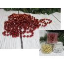 Catena di perline di albero di Natale (oro, argent
