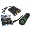 grossiste Lampes de poche: Lampe torche noire avec piles 1 led zoom 10,5 cm -