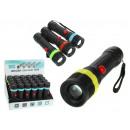 Torcia nera con batterie 1 led 13 cm - 1 pezzo