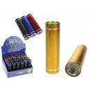 Großhandel Taschenlampen: Farbfackel mit Batterien 1 LED 8,7 cm - 1 Stück