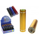 Color torch with batteries 1 led 8,7 cm - 1 piece