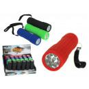 Torcia a colori con batterie da 9 led da 10 cm - 1