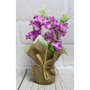 wholesale Other: Lavender in a pot 3 branches 18x6 cm - 1 piece