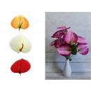 wholesale Decoration: Calla bouquet of 9 flowers, stem + heads 50x14 cm