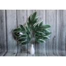 grossiste Décoration: Feuilles 5 branches oblongues vert foncé avec du b