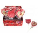 groothandel Zoetwaren: Het schuim lolly  zoete hart 35g - 1 stuk