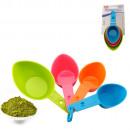 Spatola con misurino, colore mix cucina - set di 4