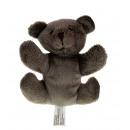 Mascot orso bruno scuro 11x10 cm