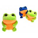 Großhandel Spielwaren: Frog Maskottchen großes Netz 12x10 cm