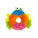 wholesale Toys: Mascot circle with a smiley 19 cm rattling