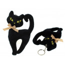 wholesale Gifts & Stationery: Mascot cat black keychain 15x12 cm