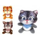 Großhandel Spielwaren: Kätzchen Maskottchen mit Bandana 19x13 cm