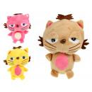 Großhandel Spielwaren: Katzenmaskottchen mit einer Zunge 18x13 cm
