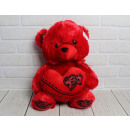 Mascot bear red with heart Valentine's Day - w