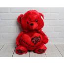 Kabala medve piros szív Valentin-nap - hanggal