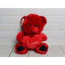 Mascotte orso rosso con cuore San Valentino - con