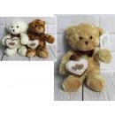 Kabala retro medve szívvel és íjjal 24 cm