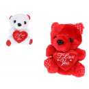 Teddy bear mascot with valentine's day heart