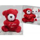 Mascotte di orsacchiotto con un cuore di San Valen