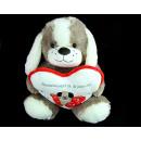 cane mascotte con il cuore sul 18-TKE
