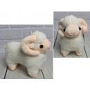 Mascotte, peluche agnello 17 cm