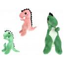 Mascotte, dinosauro peluche (rosa, verde) fantasti