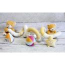 Großhandel Spielwaren: Maskottchen, Stofftier Schlange mit Anhänger, in