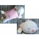 Mascotte Cuscini cane in una camicia di rose 55x28