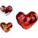 Mascotte, Cuscini cuore di paillettes rovesciate,