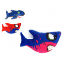 Großhandel Puppen & Plüsch: Shark Maskottchen mit einem Saugnapf Mix 23x12 cm