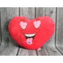 Mascotte coeur en coussin , coussin avec un visage