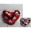 grossiste Mercerie et couture: Mascotte de coeur renversé de paillettes dans les