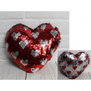Mascot heart overturned sequins in hearts 25 c