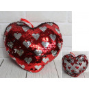 Mascot heart overturned sequins in hearts 28 c