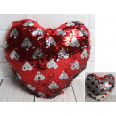 Mascot heart overturned sequins in hearts 33 c