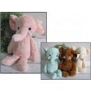 wholesale Dolls &Plush: Mascotka elephant 21x10 cm pastel