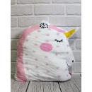 Mascotte super soft unicorno a pois 39x29 c