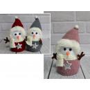 Pupazzo di neve mascotte di Natale da pl