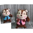 grossiste Poupees et peluches: Mascotte cravate écureuil grand 40x25 cm