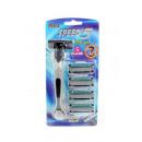 wholesale Shaving & Hair Removal: Shaving razor 5-blades blue set with