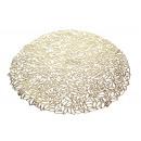 Mat kerek asztal szőnyeg 37 cm - arany - 1 darab