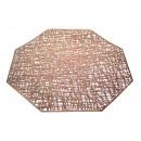 groothandel Home & Living: Mat achthoekige tafelmat 37x37 cm - rosé goud
