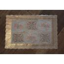 Mat, napkin for rectangular oilcloth table flowers