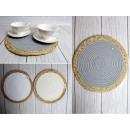 B. tappetino da tavola intrecciato, materiale 30 c