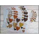Großhandel Möbel: Deckchen 6 + 6  (43x28 cm und 9,5x9,5 cm) Herz