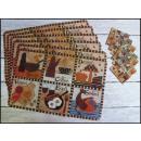 Großhandel Möbel: Deckchen 6 + 6  (43x28 cm und 9,5x9,5 cm) Küche