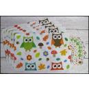 groothandel Meubels: Placemats 6 + 6  (43x28 cm en 9,5x9,5 cm) uil