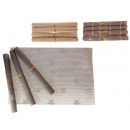 wholesale furniture: Table mats woven in a roll 30x45 cm set of 4 s