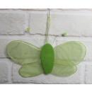 Farfalla decorativa verde 22x10 cm